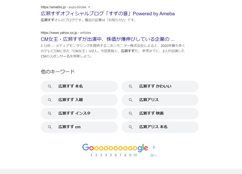 Googleのページネーション